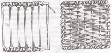 Плетение из газет крышка прямоугольная