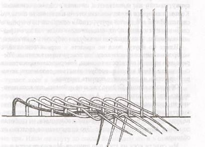 Продолжение плетения косы